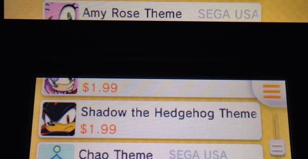 New Sonic 3DS Themes