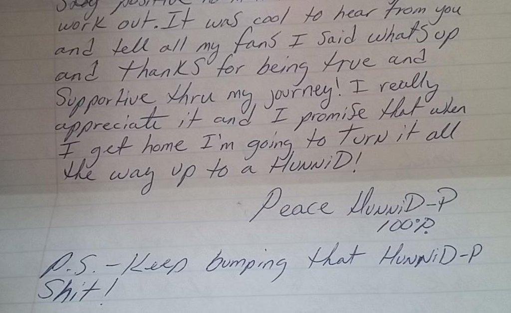 Hunnid-P Writes Letter to Fans